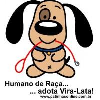 """ADESIVO """"Humano de raça adota vira-lata"""" LATARIA"""