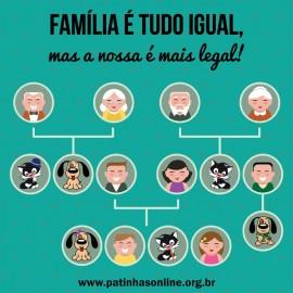 "ADESIVO ""Família é tudo igual"" LATARIA"